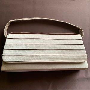 Gold Satin evening bag